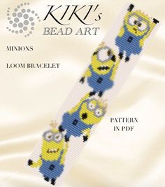 Bead loom pattern  Minions Happy Minions LOOM bracelet cuff