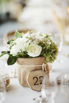 Flowers for table setting