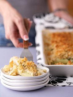 A bread crumb mixture tops this creamy vegetable casserole. This side-dish recipe can be made for a special occasion or for any weeknight meal.