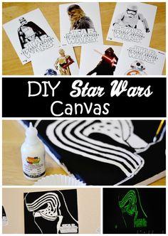 DIY Star Wars Canvas Art #BigGCereal #TheForceAwakens #ad