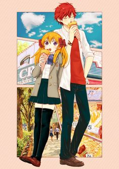 Two Friends out on the Town I Love Anime, Awesome Anime, Me Me Me Anime, Kamigami No Asobi, Hirunaka No Ryuusei, Anime Nerd, Anime Manga, Monthly Girls' Nozaki Kun, Gekkan Shoujo Nozaki Kun
