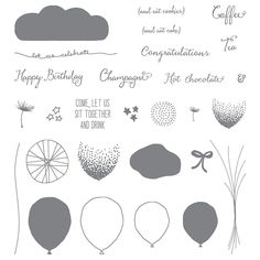 Balloon Celebration Photopolymer Stamp Set by Stampin' Up! http://kimskreations.stampinup.net