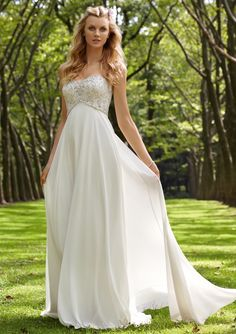 1 simple wedding dress for outdoor wedding (4)