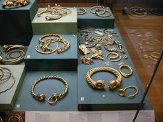 Celtic torcs in the British museum