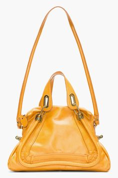 CHLOE Rust Leather Medium Paraty Shoulder Bag