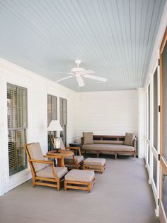 Haint Blue porch ceilings:     SW 6471 Hazel     SW 6505 Atmospheric     SW 6944 Pool Blue