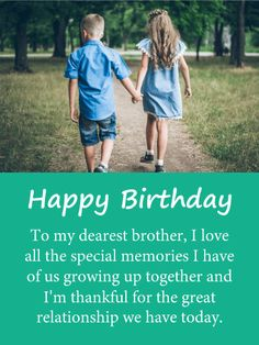 Send Free Special Memories - Happy Birthday Card for Brother to Loved Ones on Birthday & Greeting Cards by Davia. It's free, and you also can use your own customized birthday calendar and birthday reminders. Happy Birthday Brother Quotes, Birthday Cards For Brother, Brother Sister Quotes, Happy Birthday Text, Special Birthday, 20 Birthday, Birthday Nails, Short Birthday Wishes, Happy Birthday Wishes Cards