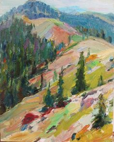"igormaglica: ""Boyd Gavin, Tahoe Ridge, 2014. oil on panel, 10x8 in. """