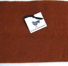 Felted Wool Fabric Fat Quarter - Hand Dyed Wool Fat Quarter Fabric -  Rust Herringbone - Applique or Rug Hooking Wool by SimplyUniqueBySheila on Etsy