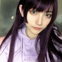 Cute Girl Face, Japan Girl, Kawaii Girl, Female Portrait, Woman Crush, Hairstyles With Bangs, Ulzzang Girl, Woman Face, Hair Inspo