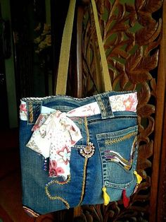 Bolsa reciclada em jeans