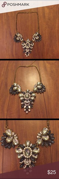 Jewel statement necklace Beautiful flower gems Jewelry Necklaces