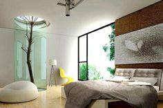 chambre a coucher design arbre milieu