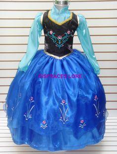 vestido de Ana de frozen