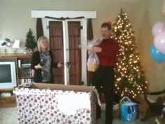 Creative and funny christmas pregnancy announcement idea, heartwarming reaction. Best surprise ever! Brecky's Mom goes nuts when we tell her mom and dad through a big christmas gift that we're 12 weeks pregnant with our first baby      Keywords:  Preggers Surprise (original)  Phoebe and Maxen Blackwell  Telling my in-laws we're pregnant and getting a ...