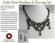 Ladies' Necklaces – Rhonda L Abbott Celtic Knot Necklace, Beaded Necklace, Necklaces, Pirate Jewelry, Beaded Animals, Old World Charm, Pearl Color, Necklace Designs, Earring Set