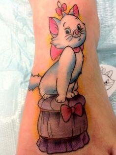 Aristocats tattoo. Guilli Garcia at ModernElectric tattoo company in Bakersfield California.