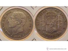 2 PESETAS 1882 ALFONSO XII