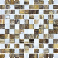 #VitraArt #StainedGlass #SquareMosaic in #Peperino - Available at #MidAmericaTile  #mosaic #glass #square #tile #backsplash #bath #kitchen #white #cream #gray #grey #brown #bianco #grigio #mocha #moka #charcoal #gold #TortoiseShell