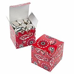 Red Bandana Gift Boxes 24/$3.00 Oriental Trading