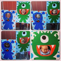 Monster party ideas - monster cutouts just hung from a clothes rack!