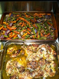 Balsamic roasted vegetables and chicken