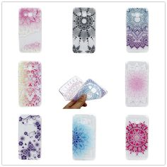 Phone Case Flower Butterfly TPU Silicone Rubber Cover For Samsung Galaxy J2 Prime J7 Prime Transparent Phone Protective Case