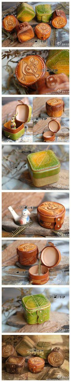 Coquetas cajas de cuero para guardar nuestros tesoros