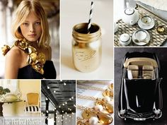 {Glitz + Glam}: A Palette of Gold, Black + White