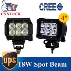 "2x 4"" inch 18W CREE LED LIGHT BAR WORK SPOT LAMP OFFROAD BOAT UTE CAR TRUCK JEEP"