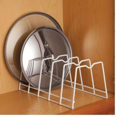 Click Walter Drake to buy food storage sets, stackable storage bins for food & other items to keep your food fresh. Shop here for food storage. Pot Lid Storage, Pot Lid Organization, Plate Storage, Lid Organizer, Kitchen Organisation, Plate Racks, Storage Rack, Food Storage, Storage Ideas
