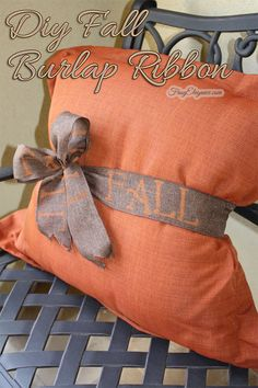 Such a great idea to simply update a pillow!