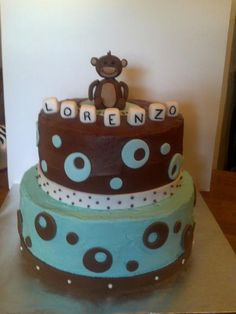 Baby Shower - Monkey Cake*