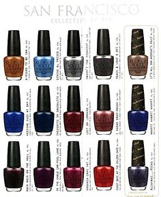 The San Francisco by OPI Nail Polish Collection! #beauty