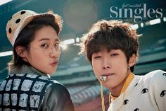 Jin Young and CNU - Singles Magazine March Issue '14