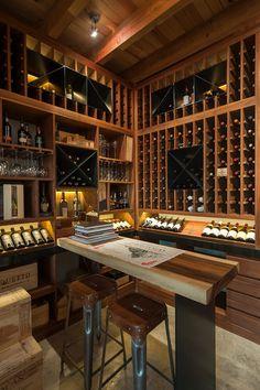 Wine Shop Interior, Cellar Inspiration, Wine Cellar Basement, Home Wine Cellars, Wine Cellar Design, Wine Tasting Room, Wine House, Wine Glass Rack, Wine Rack