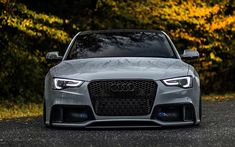 Audi front view, tuning exterior, new gray small Ride height, German cars, Audi Audi A5, Audi Sport, Sport Cars, Carros Audi, Audi Motorsport, Black Audi, Mc Laren, Best Luxury Cars, Car Show