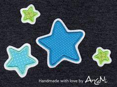 Aufnäher - Aufnäher Set Sterne ♥ Applikation in vielen Farben - ein Designerstück von AnCaNi bei DaWanda