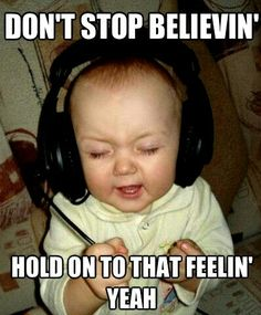Don't Stop Believing! Haha so cute Funny Babies, Funny Kids, The Funny, Adorable Babies, Funny Baby Pictures, Funny Pictures With Captions, School Pictures, Funny Pictures For Kids, Funny Captions