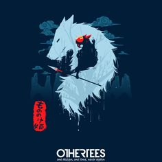 """Hime"" by sergiomancinelli T-shirts, Tank Tops, Sweatshirts and Hoodies are on sale until 8th November at www.OtherTees.com Pin it for a chance at a FREE TEE #othertees #kodama #forestspirits #mononoke #princessmononoke #ghibli #studioghibli #miyazaki"