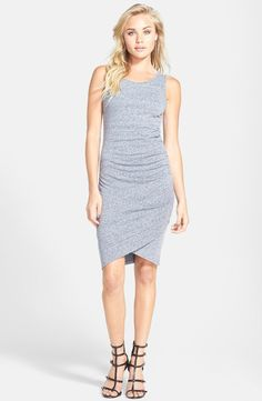 Leith Ruched Body-Con Tank Dress #Spring #GreyCloudyHeather #Nordstrom
