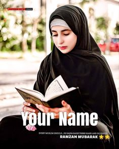 Best Ramadan Mubarak Dp With Name Hijab Bride, Girl Hijab, Wedding Hijab, Cute Muslim Couples, Muslim Girls, Cool Girl Pictures, Girl Photos, How To Read Quran, Ramadan Dp