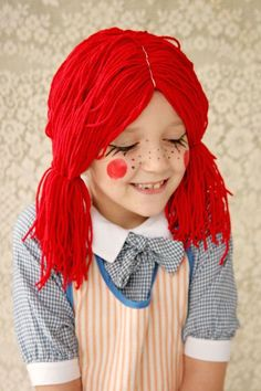 Halloween is coming! Take your pick from these 101 creative, cheap and easy DIY Halloween costume ideas for women, men, couples and kids. Rag Doll Halloween Costume, Diy Halloween Costumes For Girls, Cute Halloween Makeup, Fete Halloween, Cute Costumes, Halloween Kids, Costume Ideas, Raggedy Ann Costume, Halloween Decorations