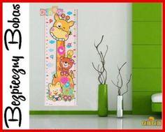 miarka wzrostu, naklejka ścienne, pokój dziecka, żyrafa