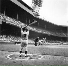 Roger Maris on deck, Mickey Mantle at bat, New York Yankees