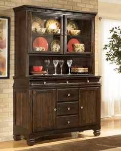 Hayley Contemporary Dark Brown Wood Buffet Server