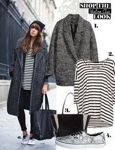 mitStil.net das Online Lifestylemagazin Mode Shop the Look Winter Chic Winter Chic, Mode Shop, Winter Looks, Must Haves, Fashion Looks, Tote Bag, Shopping, Tops, Reach In Closet