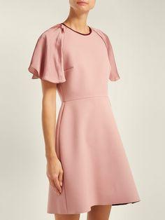 Nia crepe mini dress | Roksanda | MATCHESFASHION.COM UK Pretty Dresses, Beautiful Dresses, Church Attire, Roksanda, Classy Dress, Black Women Hairstyles, Frocks, Cold Shoulder Dress, Women Wear