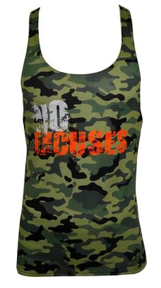 FATIGUE CAMOSTRINGER VEST WITH NO EXCUSESPRINT FABRIC: 165gm SPUN POLY SINGLE JERSEY