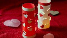 Valentin nap/Bálint nap-Papír mécses készítése-DIY dekorációs ötlet